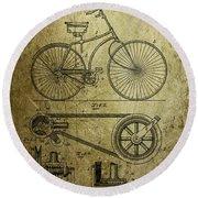 Bicycle Patent  1890 Round Beach Towel