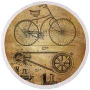 Bicycle Patent  Round Beach Towel