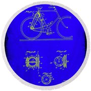 Bicycle Patent Drawing 4b Round Beach Towel