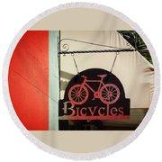 Bicycles Round Beach Towel