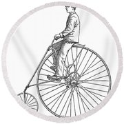 Bicycling, 1880 Round Beach Towel