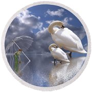 Big And Small Round Beach Towel