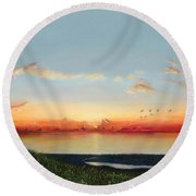 Big Assawoman Bay Round Beach Towel