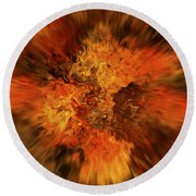 Big Band - Fiery Cloud Round Beach Towel