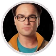 Big Bang Theory Leonard Round Beach Towel