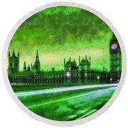 Big Ben London - Da Round Beach Towel