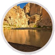 Big Bend Boquillas Canyon Round Beach Towel