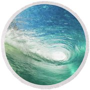 Big Blue Eye Round Beach Towel