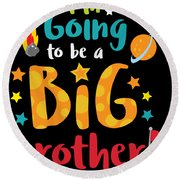 Big Brother Space Theme Light Promotion Round Beach Towel