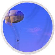 Big Brother's Parachute Round Beach Towel