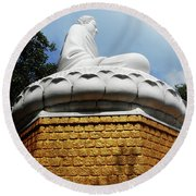 Big Buddha 1 Round Beach Towel