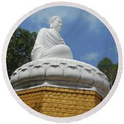 Big Buddha 2 Round Beach Towel