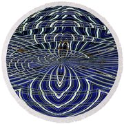 Big Building Abstract Round Beach Towel
