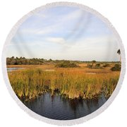 Big Cypress Landscape Number Six Round Beach Towel