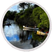 Big Cypress Outing Round Beach Towel