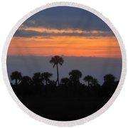 Big Cypress Sunset Round Beach Towel