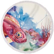 Big Eye Squirrelfish Round Beach Towel