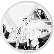 Big Guns II Round Beach Towel