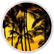 Big Island, View Round Beach Towel