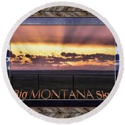 Big Montana Sky Round Beach Towel