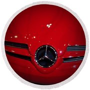 Big Red Smile - Mercedes-benz S L R Mclaren Round Beach Towel