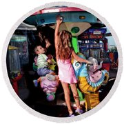 Big Sister Round Beach Towel