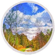 Big Sky Round Beach Towel