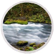 Big Spring Branch Round Beach Towel