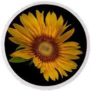 Big Sunflower Round Beach Towel
