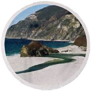 Big Sur California Round Beach Towel