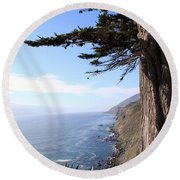 Big Sur Coastline Round Beach Towel