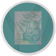 Big Tall Sail Round Beach Towel