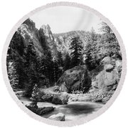 Big Thompson Canyon Round Beach Towel