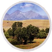 Big Timber Canyon 2 Round Beach Towel