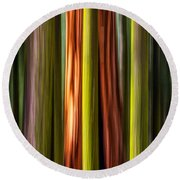 Big Trees Abstract Round Beach Towel