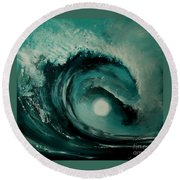 Big Wave Round Beach Towel