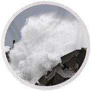 Big Waves II Round Beach Towel