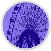 Big Wheel Blue Round Beach Towel