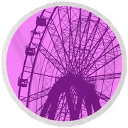 Big Wheel Purple Round Beach Towel