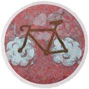 Bike-cloud Red - Da Round Beach Towel