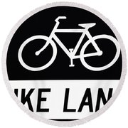 Bike Lane Round Beach Towel