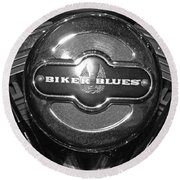 Biker Blues Round Beach Towel