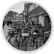 Bikes Of Skagen Round Beach Towel