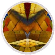 Bilateral Colors Round Beach Towel