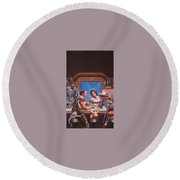 Bill The Galactic Hero Keith Parkinson Round Beach Towel