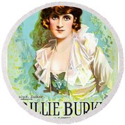 Billie Burke In The Misleading Widow 1919 Round Beach Towel