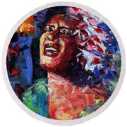 Billie Holiday Live Round Beach Towel
