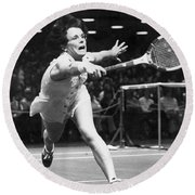 Billie Jean King Round Beach Towel