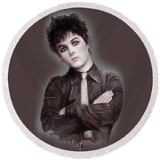 Billie Joe Armstrong Round Beach Towel
