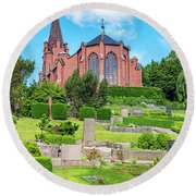 Billinge Church Round Beach Towel